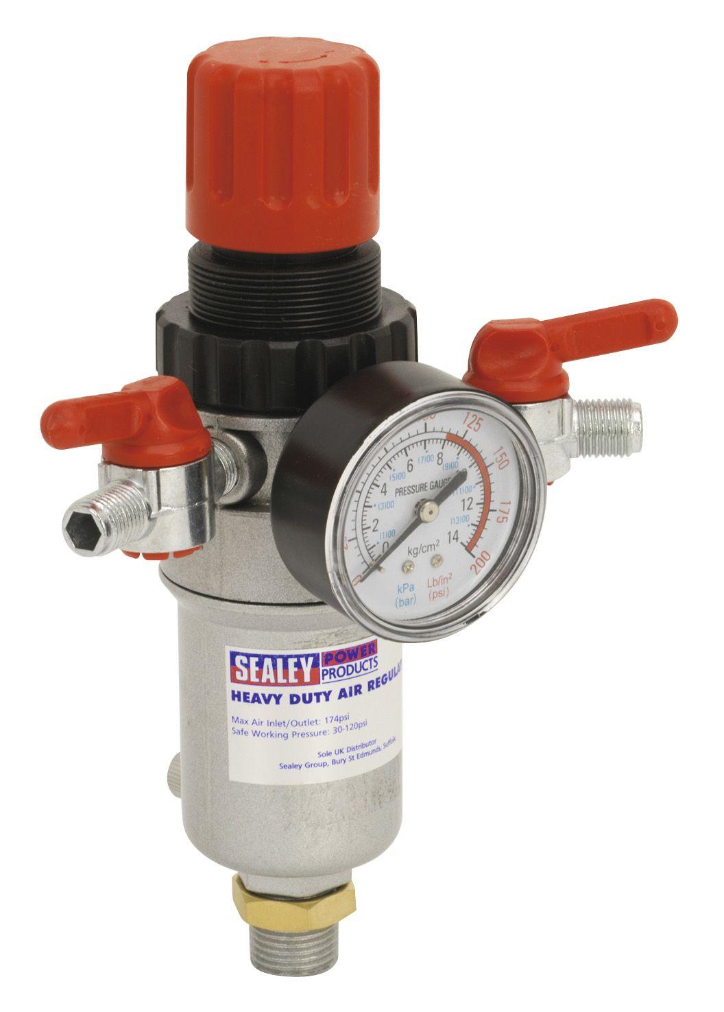 Sealey Air Filter/Regulator Heavy-Duty