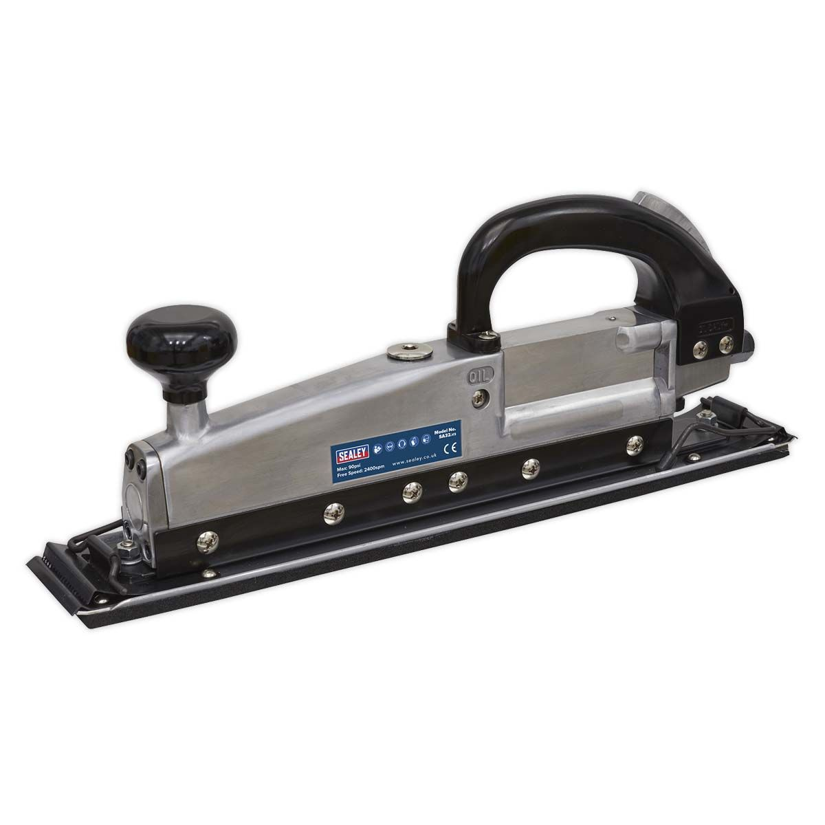 Sealey Air Long Bed Sander 400 x 70mm Twin Piston In-line