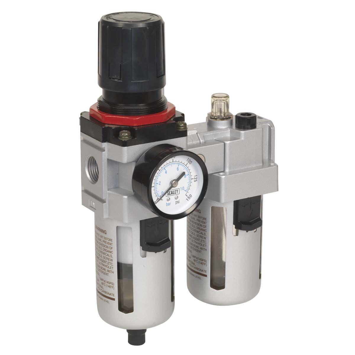Sealey Air Filter/Regulator/Lubricator - High Flow