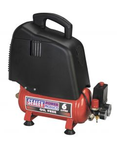 Sealey Compressor 6L Belt Drive 1.5hp Oil Free