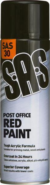SAS Gloss Post Office Red Paint 500ml