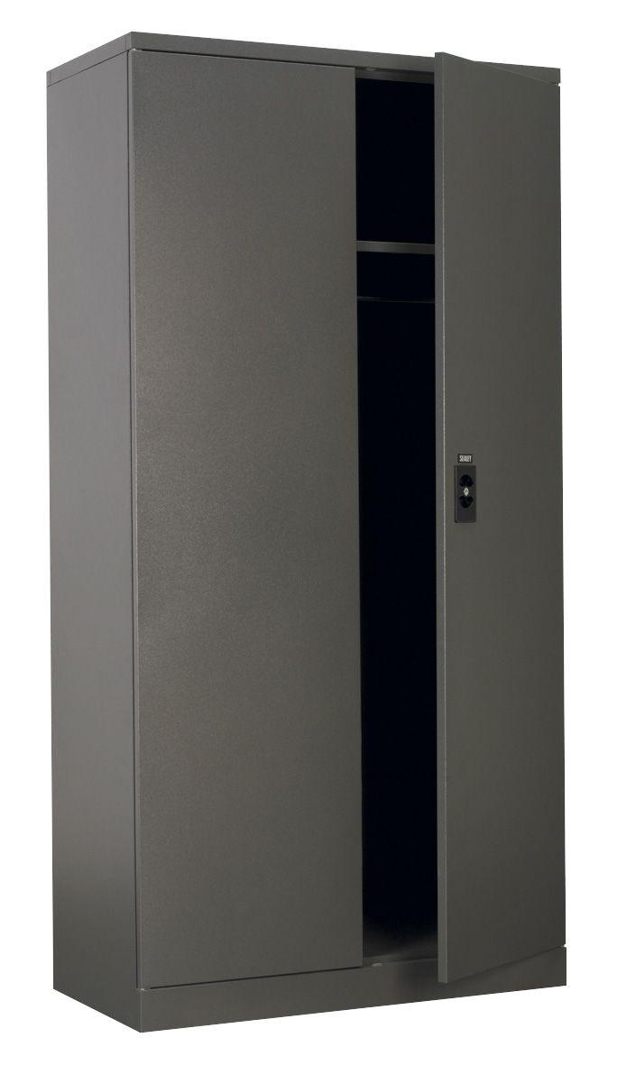 Sealey Floor Cabinet 4 Shelf plus Hanging Rail 2 Door