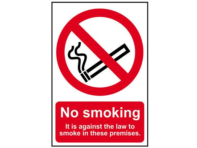Scan No Smoking It Is Against The Law To Smoke On These Premises - PVC 200 x 300