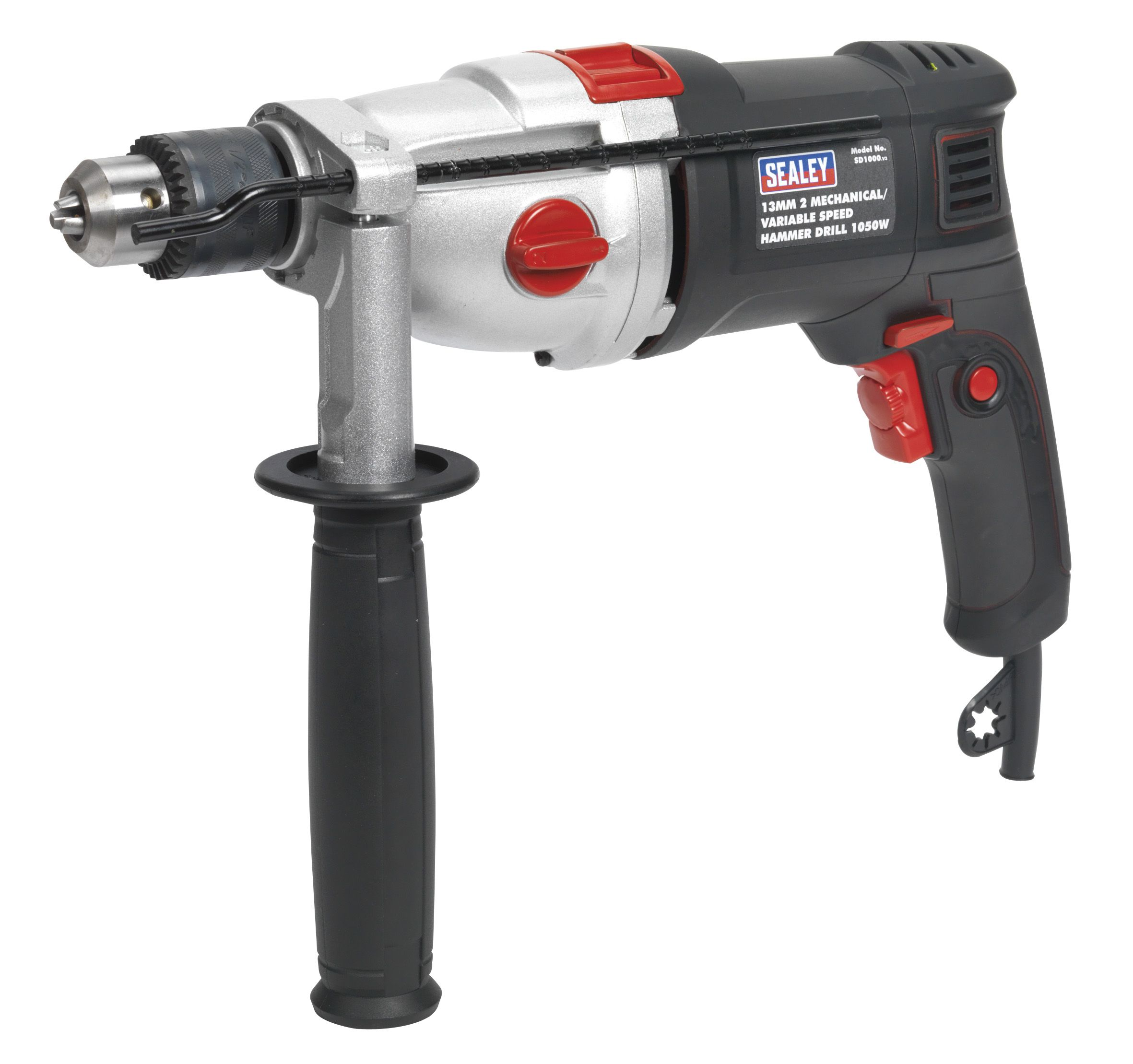 Sealey Hammer Drill 13mm 2 Mechanical/Variable Speed 1050W/230V