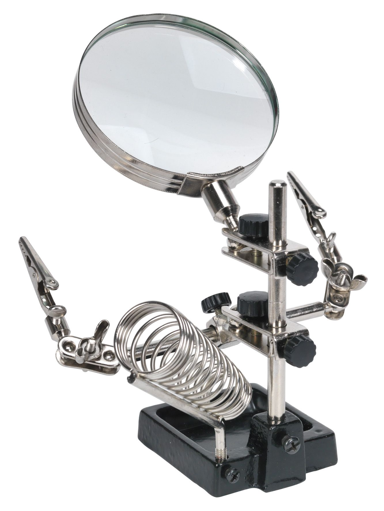 Sealey Mini Robot Soldering Stand with Magnifier & Iron Holder