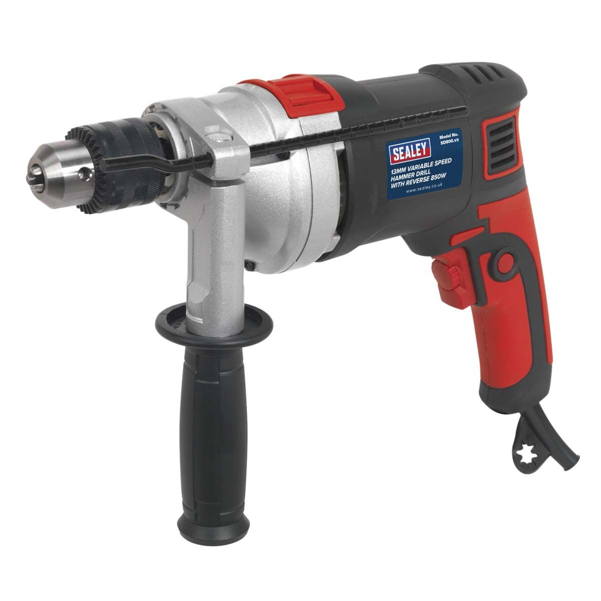 Sealey Hammer Drill 13mm Variable Speed with Reverse 850W/230V