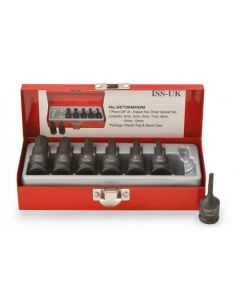 "ISS 3/8"" Metric Male Hex Socket Set - 7 Piece"