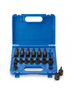 "ISS 1/2"" Female / Male Torx Socket Set - 16 Piece"