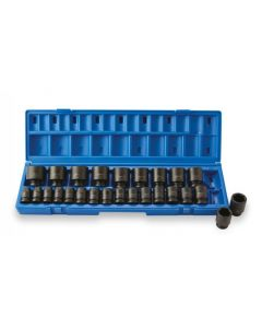 "ISS 1/2"" Metric Socket Set Deep Length - 26 Piece"