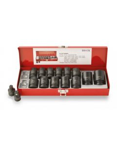 "ISS 1/2"" Metric Socket Set Deep Length - 15 Piece"