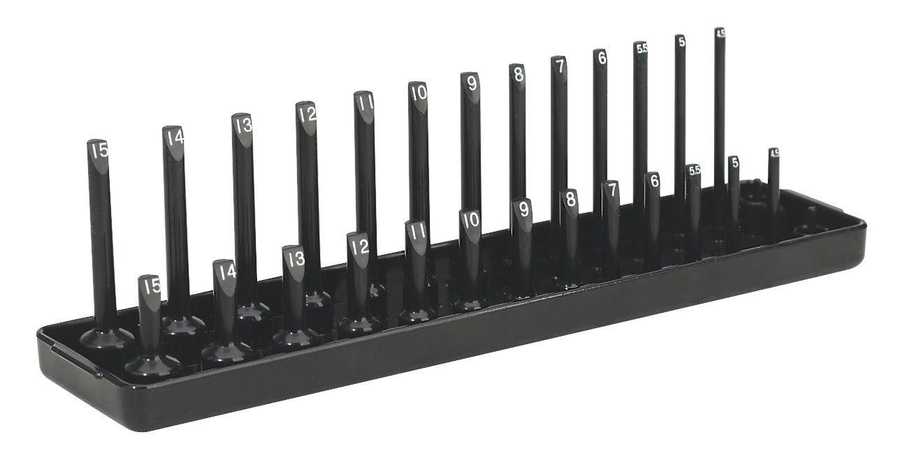 "Sealey Socket Holder 1/4""Sq Drive 4-15mm"