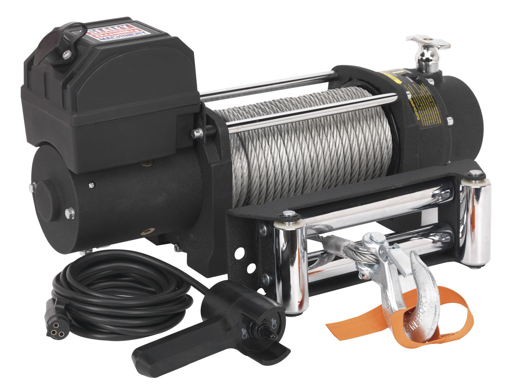 Sealey Self Recovery Winch 4300kg (9500lb) Line Pull 12V