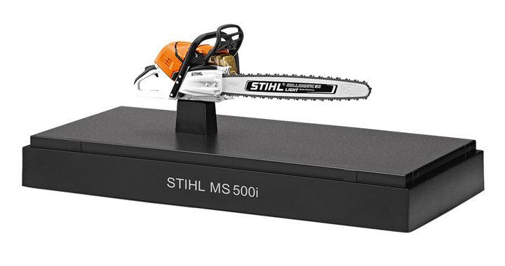 Stihl Zinc Die-Cast MS500i Chain Saw Toy Model Scale 1:10