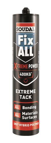 Soudal Fix All X-Treme Power Adhesive Sealant White 290ml