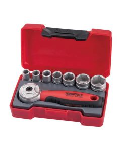 "Teng Tools Mini Ratchet Socket Set 1/4"" Drive 8 Piece"