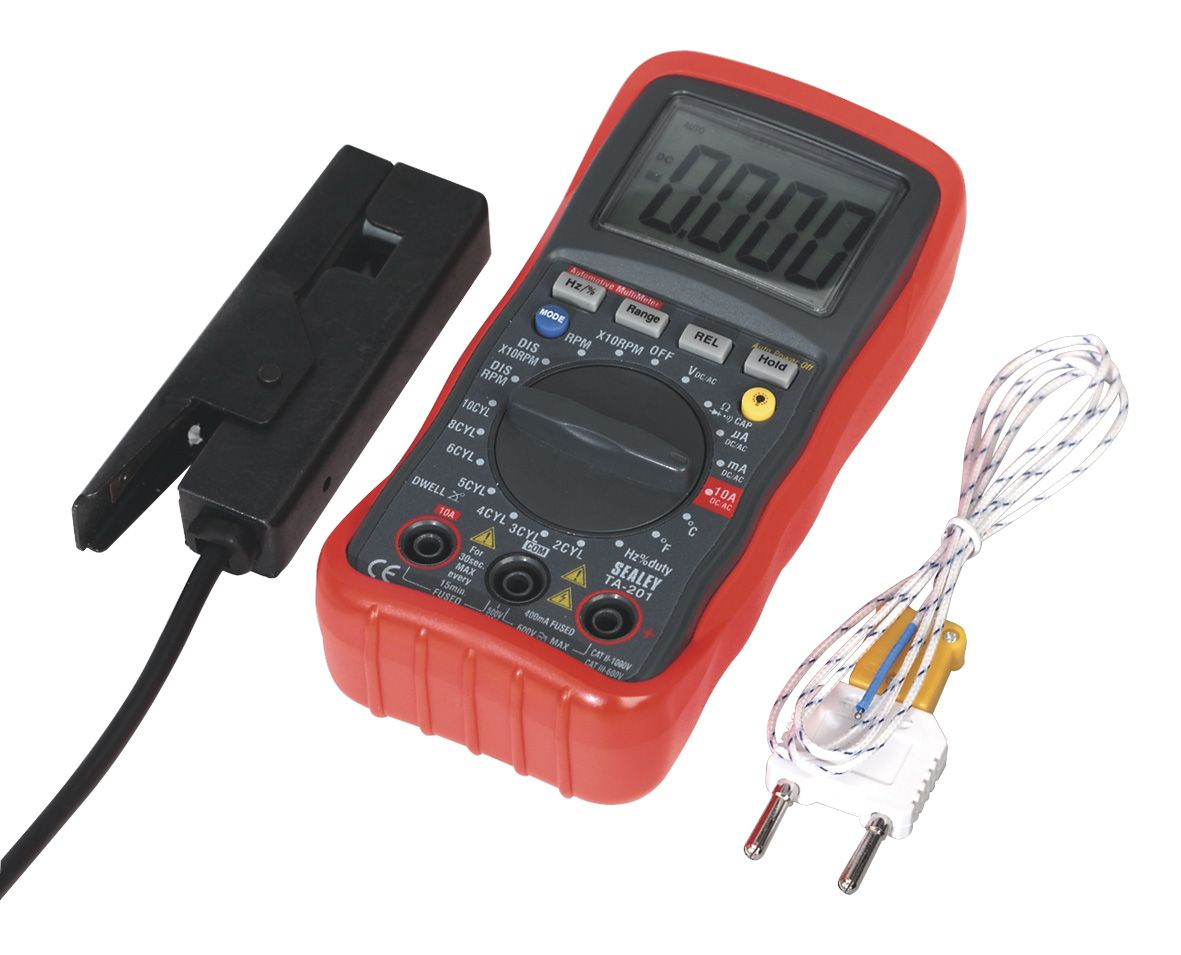 Sealey Digital Automotive Analyser 13 Function with Inductive Coupler