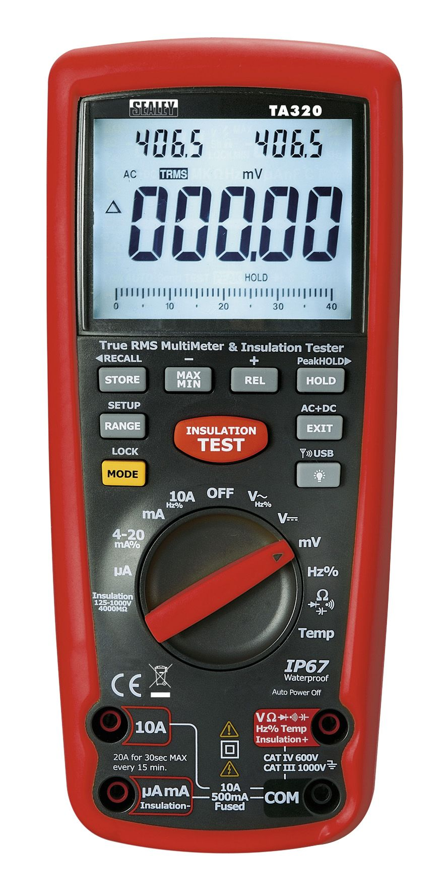 Sealey Digital Automotive Analyser/Insulation Tester - Hybrid Vehicles