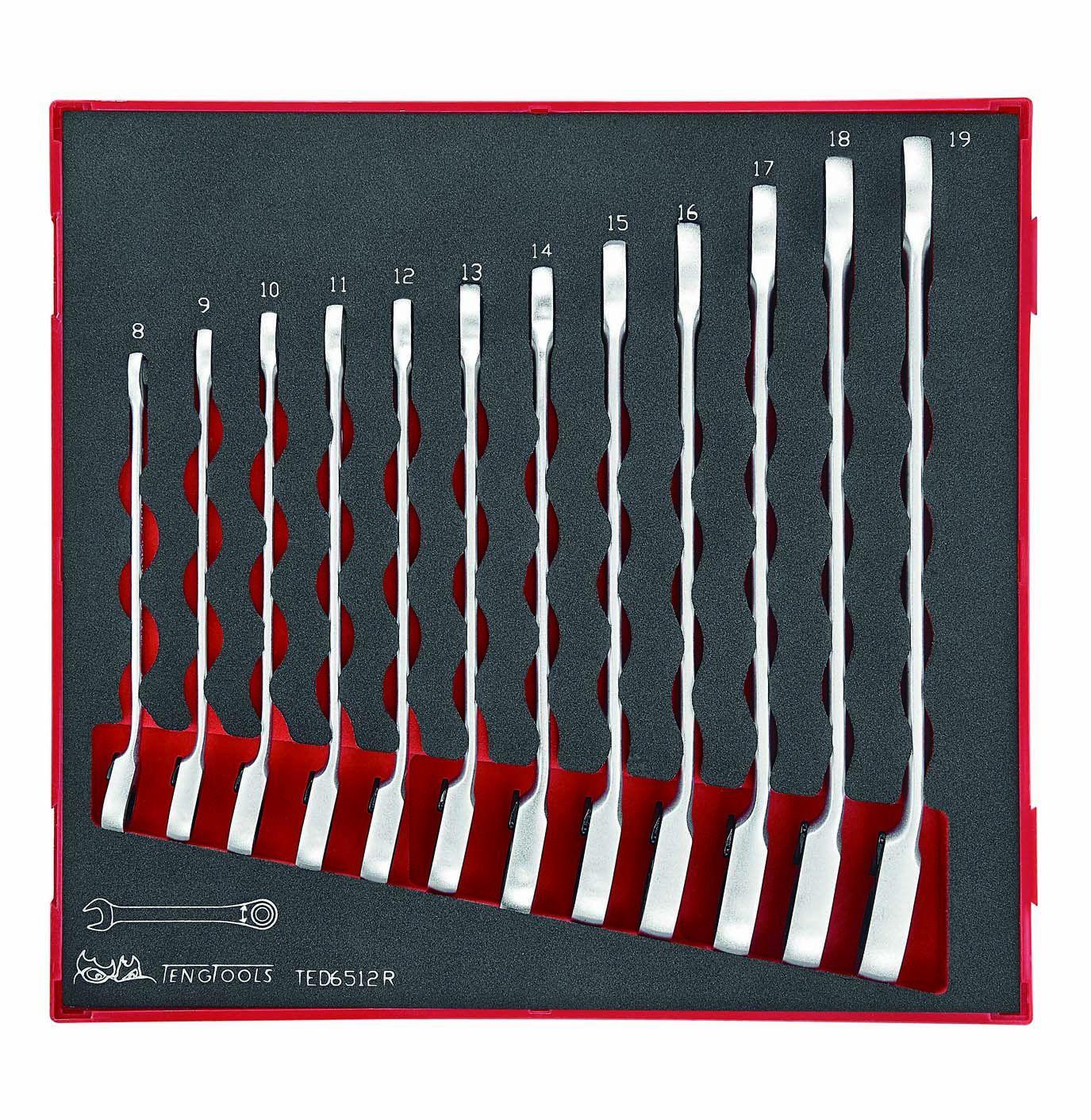 Teng Tools 12 Piece Ratchet Angled Spanner Set