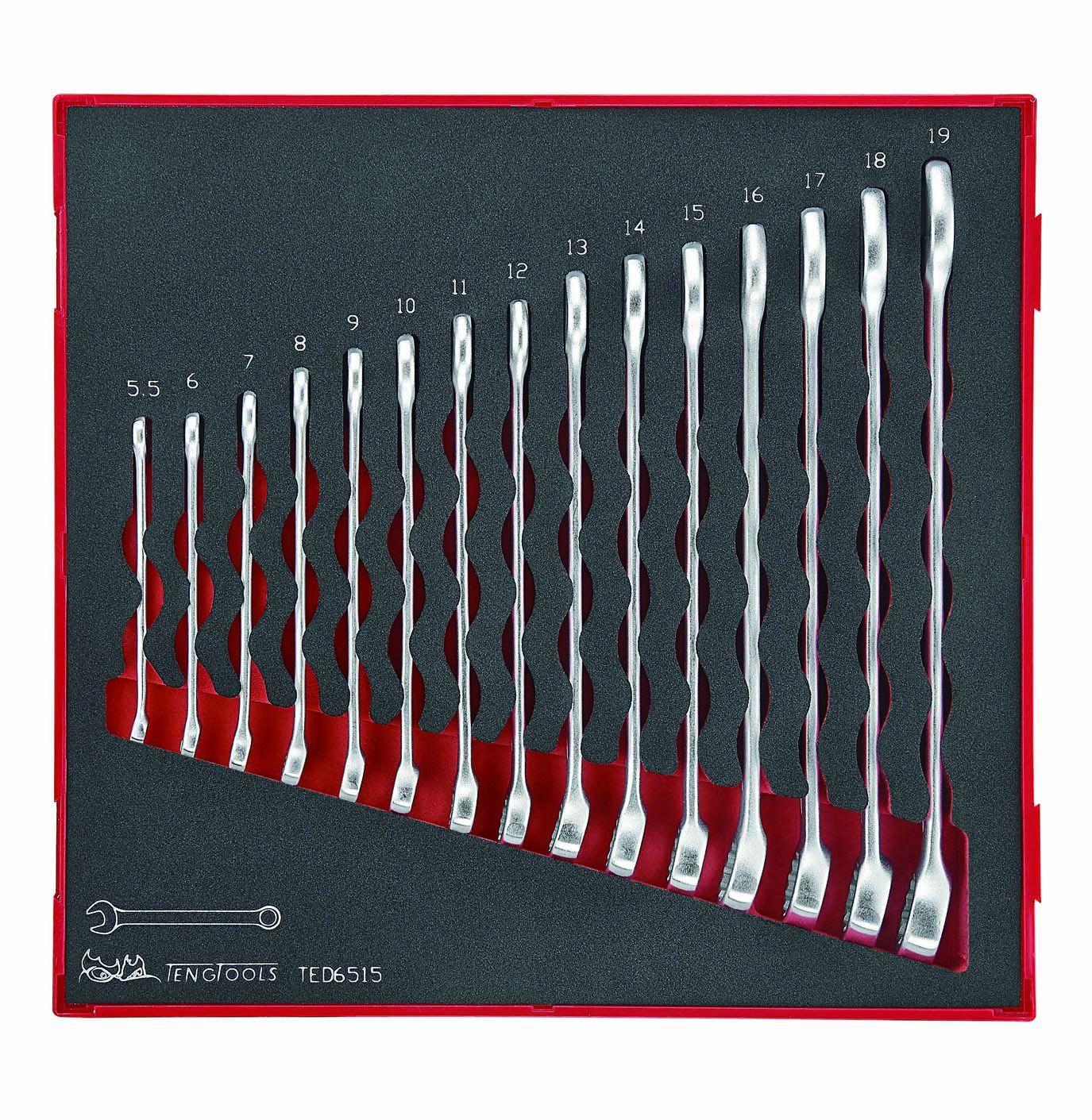 Teng Tools 15 Piece Metric Combination Spanner Set