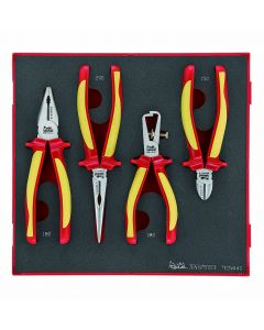 Teng Tools 4 Piece 1000v Insulated Plier Set