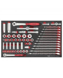"Teng Tools EVA Spanner & 1/4"" & 3/8"" Socket Set 57 Piece"