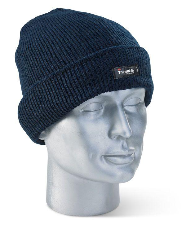 Click Workwear Thinsulate Beenie Hat Navy