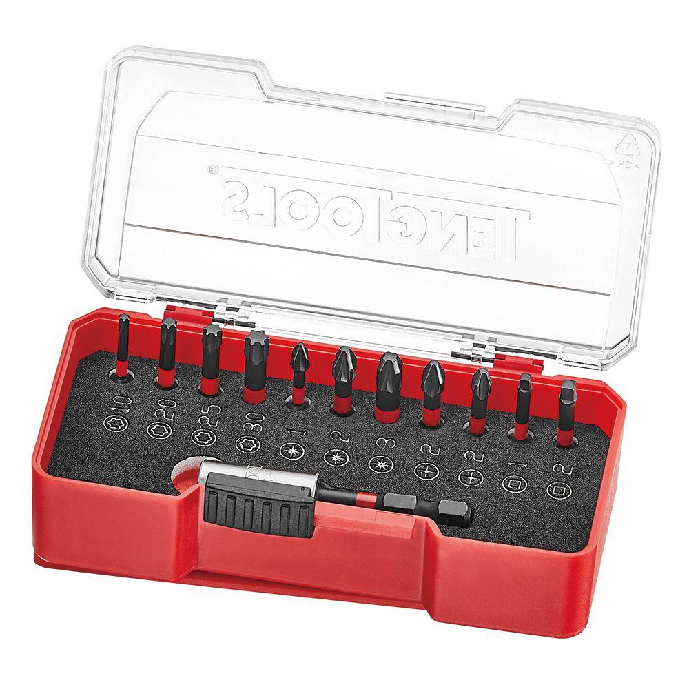 """Teng Tools 1/4"""" Drive Construction Impact Bit Set 12 Piece"""