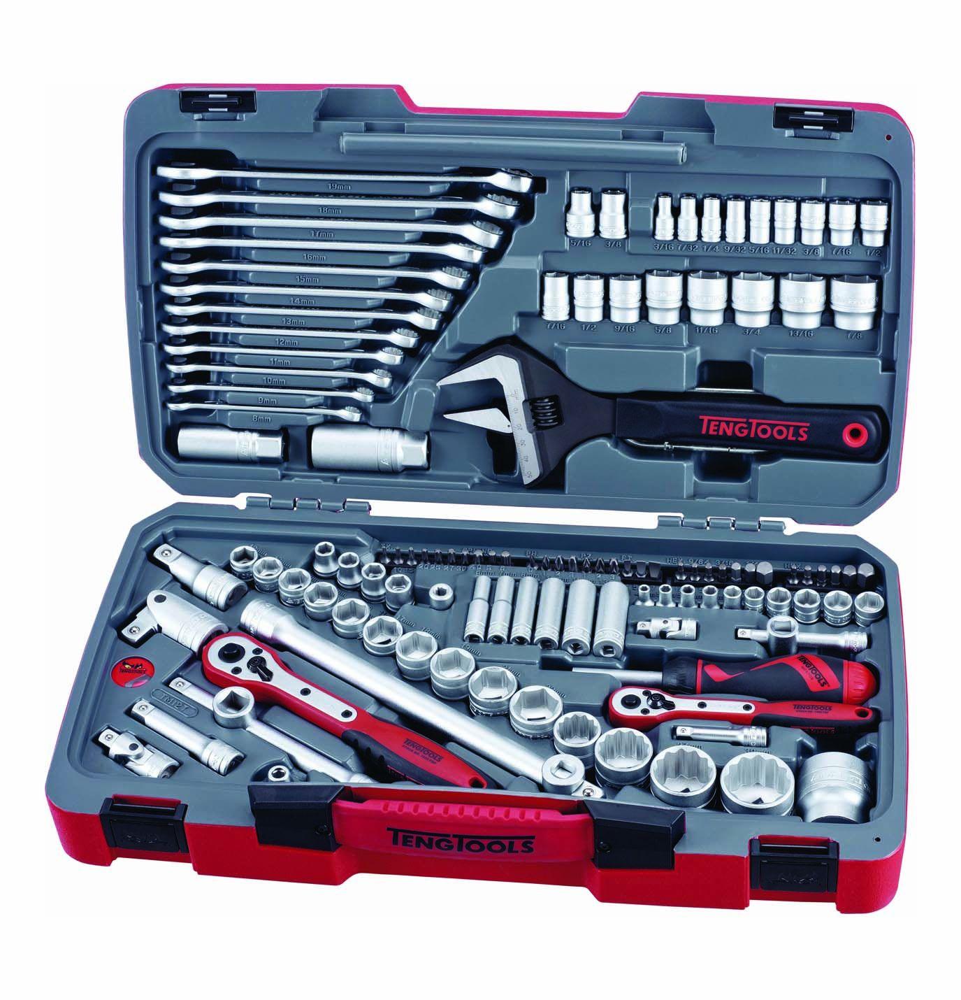 Teng Tools 127 Piece Mixed Drive Socket & Tool Set