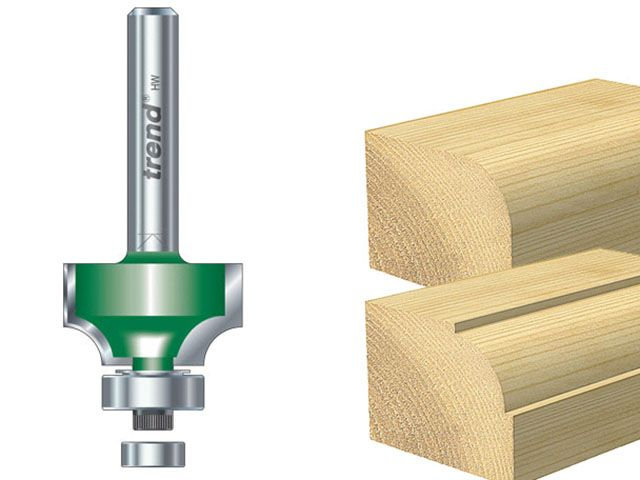 Trend C076 x 1/4 TCT Bearing Guided Ovolo & Round Over 6.3mm Radius