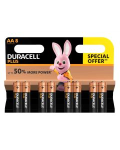 Duracell Alkaline AA Battery Pack of 8