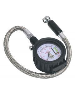 Sealey Tyre Pressure Gauge & Tyre Tread Depth Gauge - Flexible Hose 0-8bar(0-120