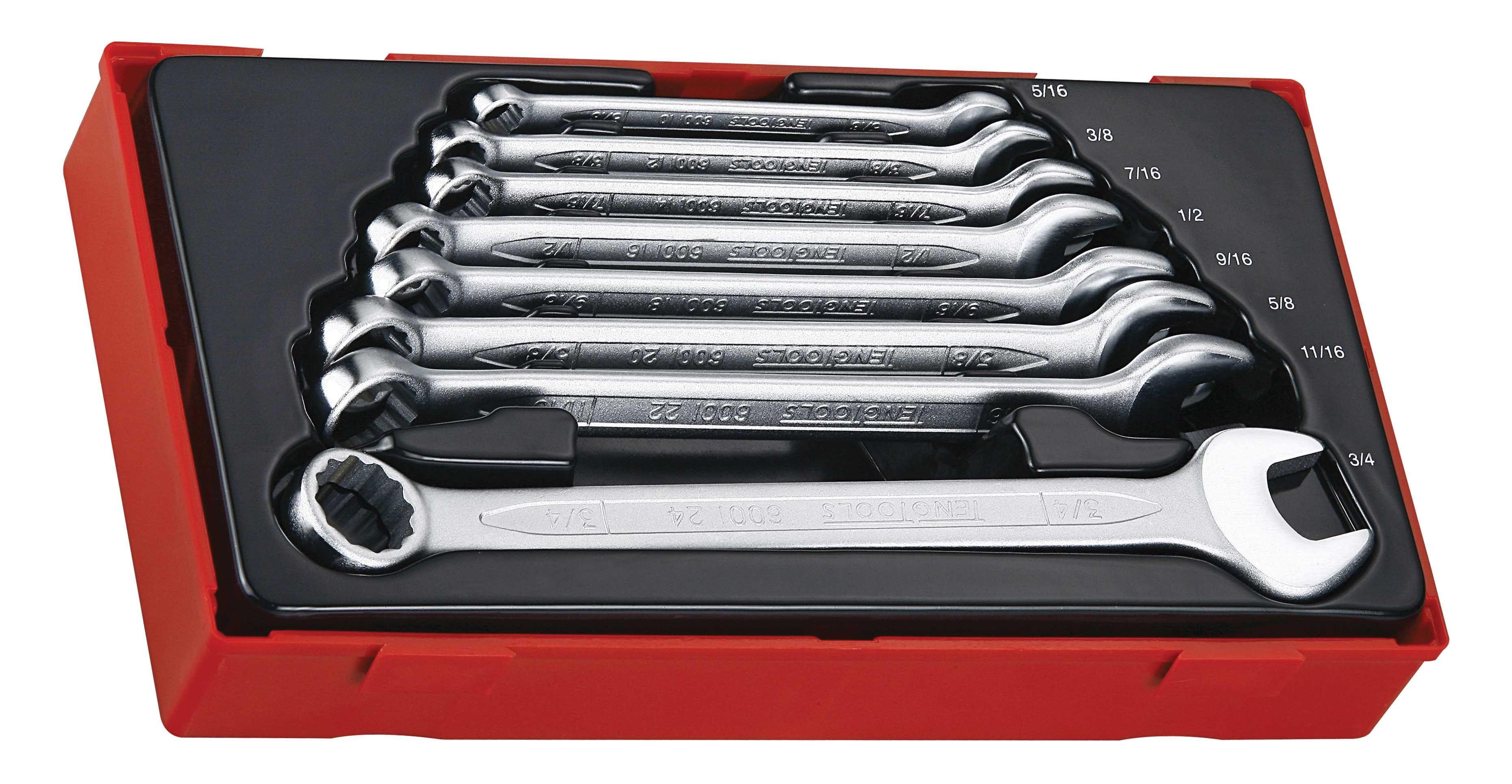Teng Tools 8 Piece AF Combination Spanner Set