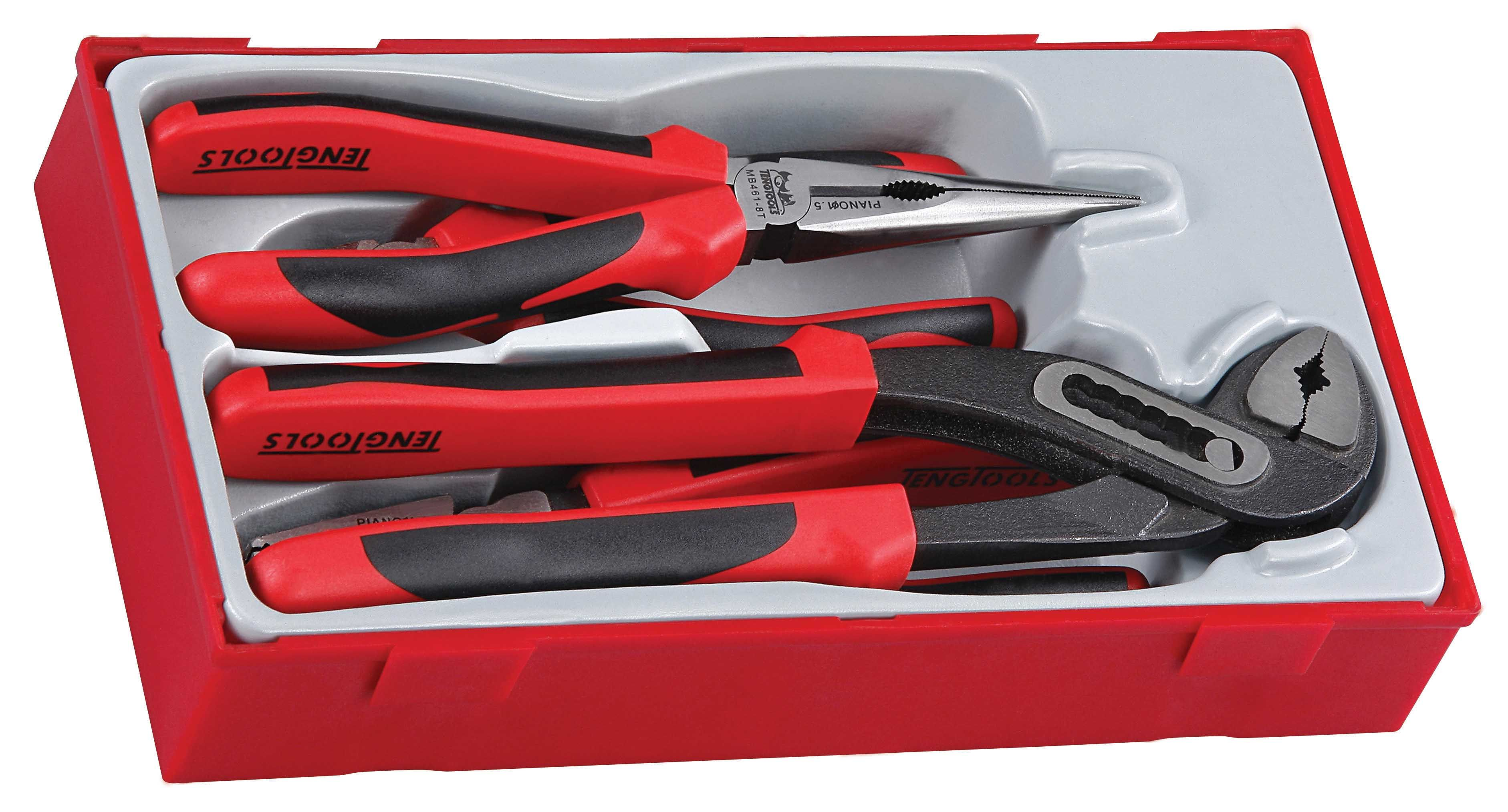 Teng Tools 4 Piece TPR Grip Mega Bite Plier Set