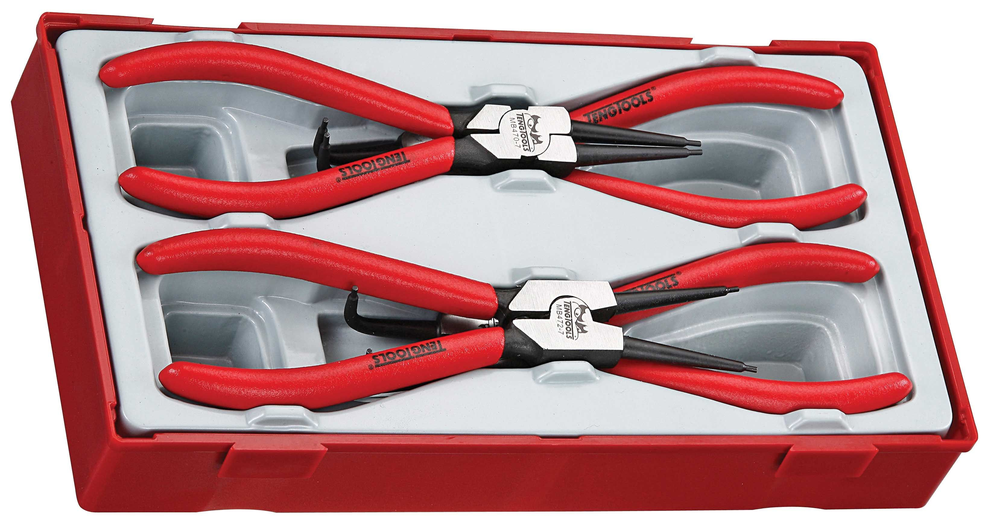 "Teng Tools 4 Piece 7"" Circlip Plier Set"