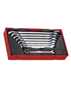 Teng Tools 8 Piece AF Ratcheting Spanner Set