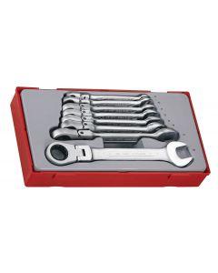 Teng Tools 8 Piece Flexible Ratcheting Spanner Set