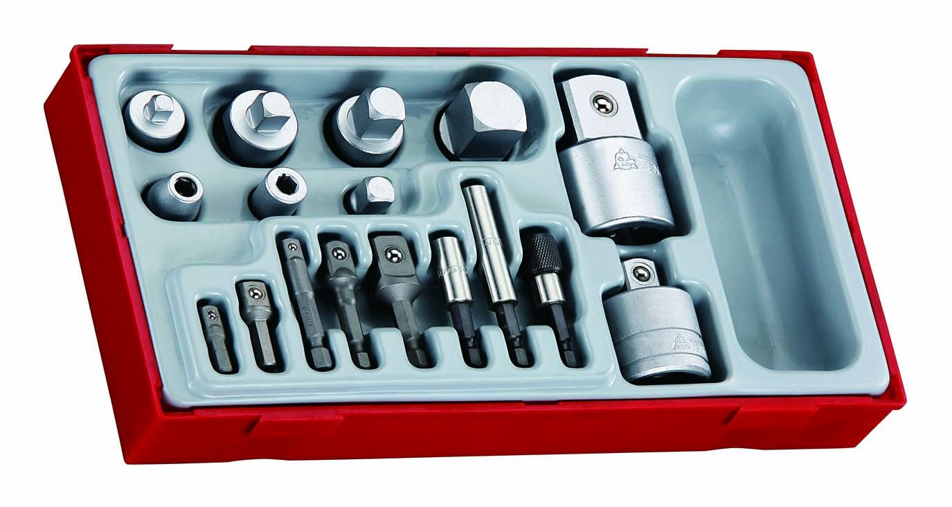 Teng Tools 17 Piece Mixed Drive Adaptor Set