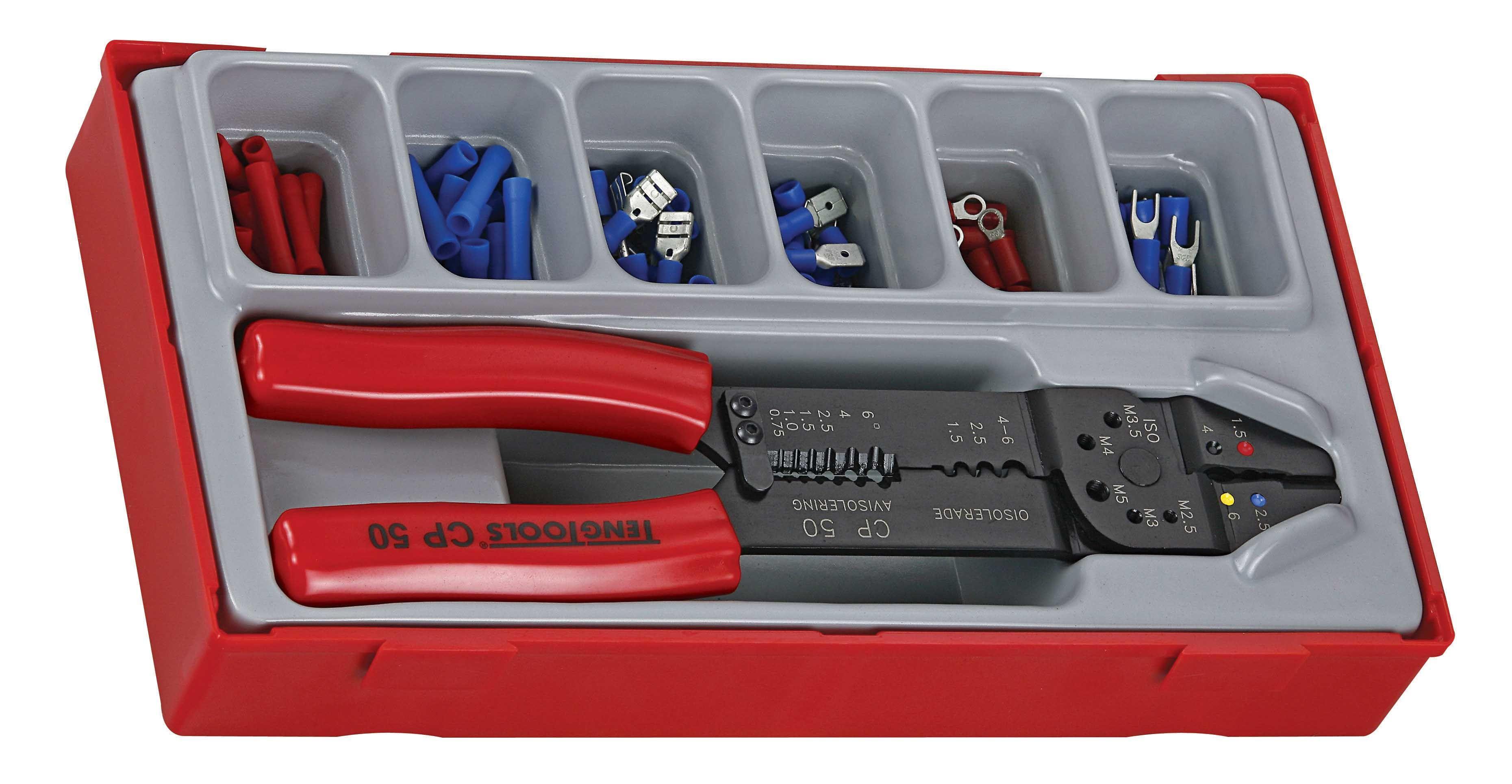 Teng Tools 121 Piece Crimping Tool & Terminal Set