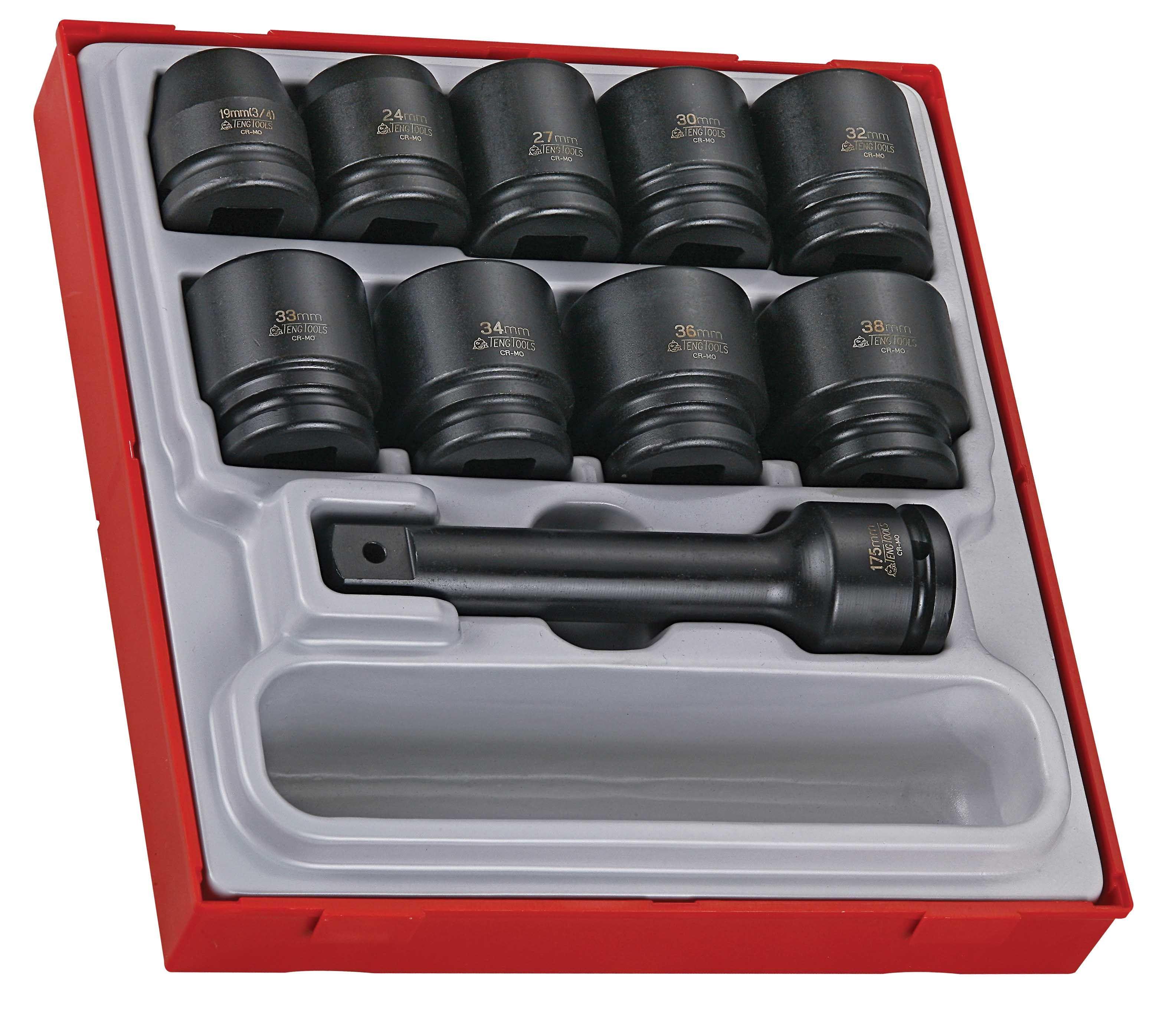 "Teng Tools 16 Piece 3/4"" Drive Impact Socket Set"