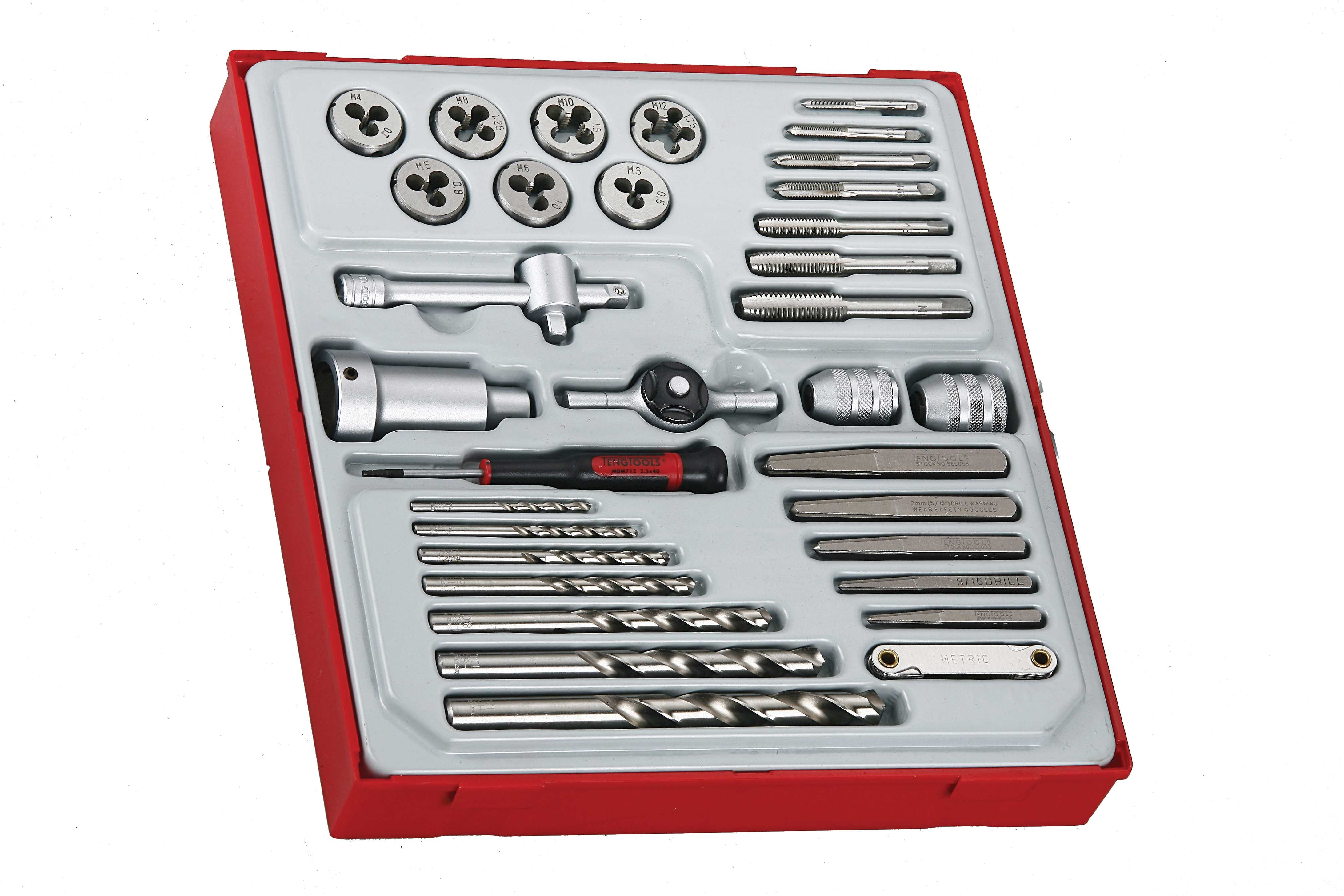 Teng Tools 34 Piece Tap And Die Set