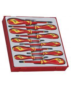 Teng Tools 10 Piece 1000v Insulated Screwdriver Set