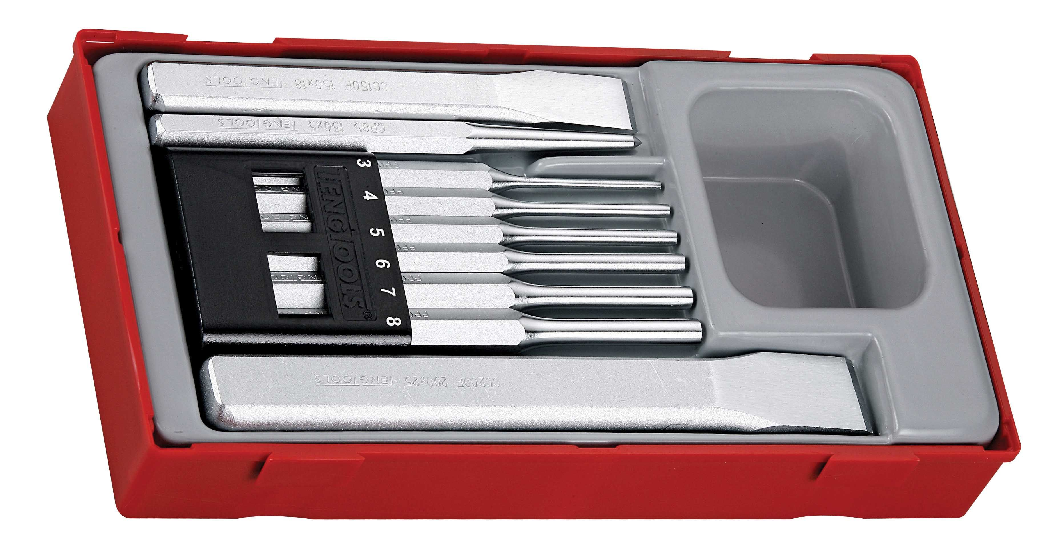 Teng Tools 9 Piece Punch & Chisel Set