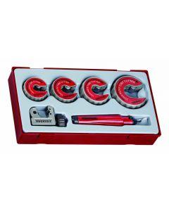 Teng Tools 6 Piece Pipe Cutter & Deburring Set