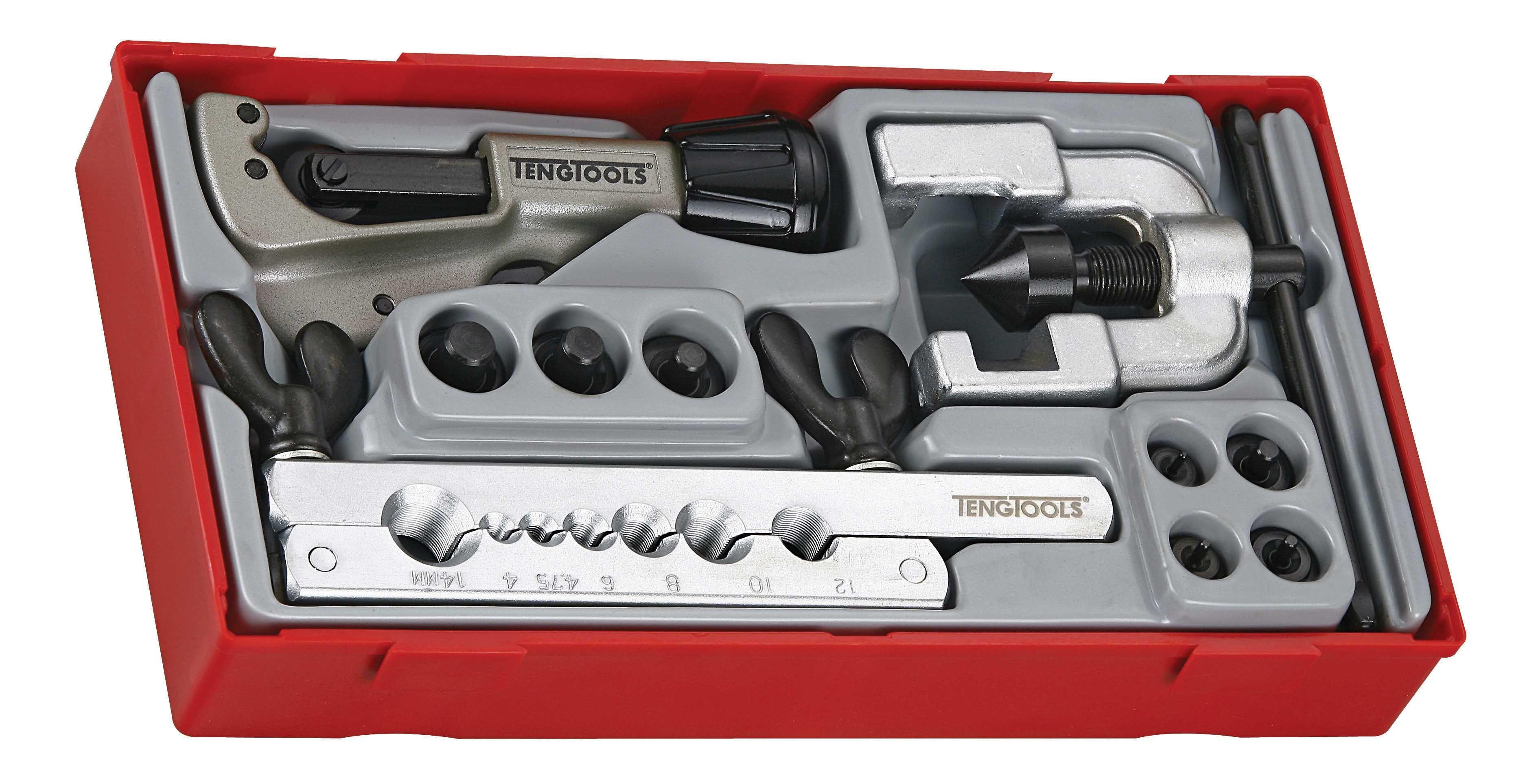 Teng Tools 10 Piece Tube Flaring Tool Set