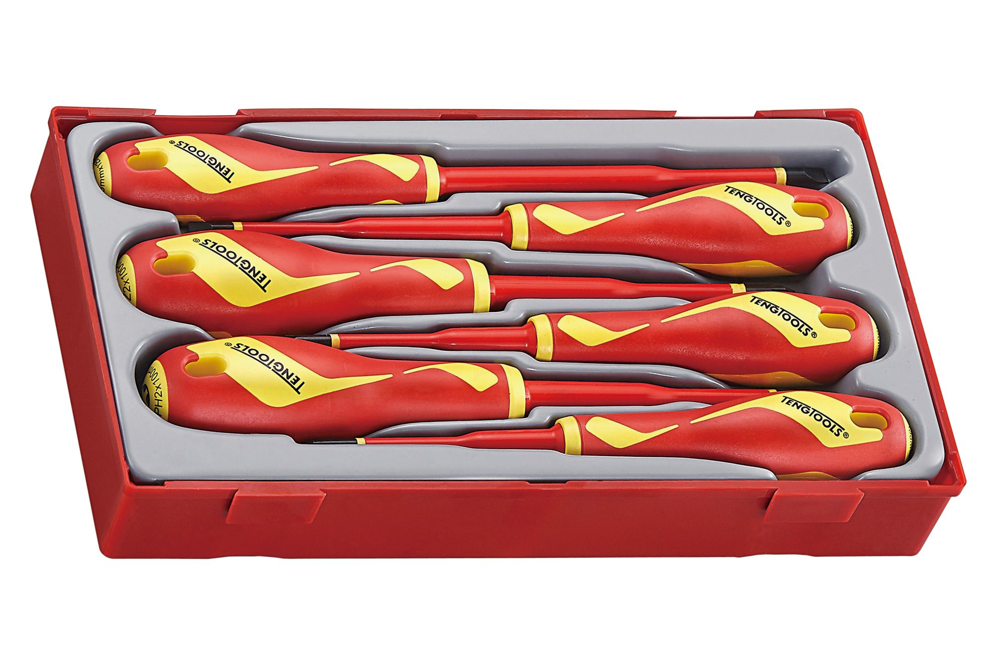 Teng Tools 1000v Insulated Screwdriver Set With Reduced Blade Diameter
