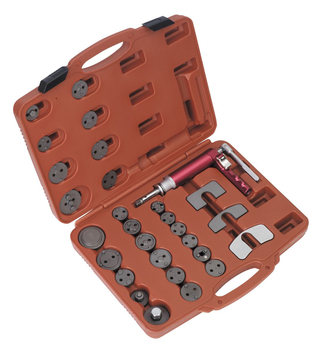 Sealey Air Operated Brake Piston Wind-Back Tool Kit 29pc