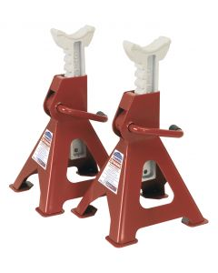 Sealey Axle Stands 3tonne Capacity per Stand 6tonne per Pair Ratchet Type