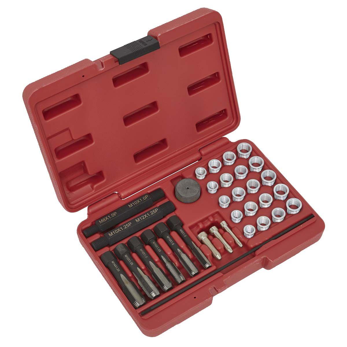 Sealey Glow Plug Thread Repair Set 33pc