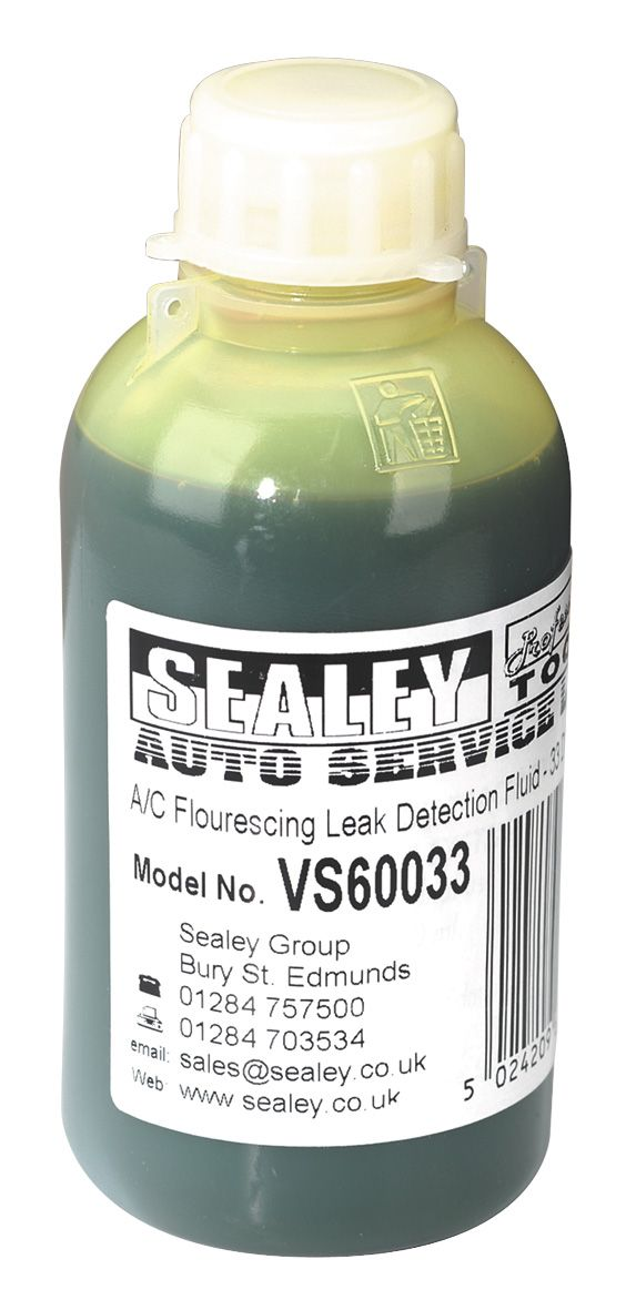 Sealey Air Conditioning Fluorescing Leak Detection Dye - 33 Dose Bottle