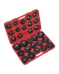 Sealey Oil Filter Cap Wrench Set 30pc